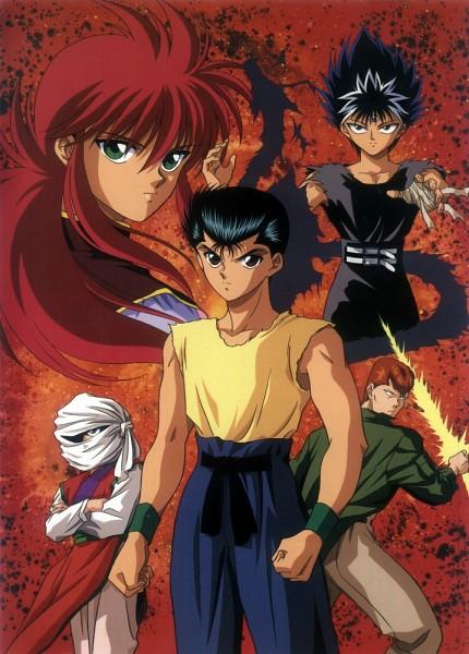 Tags: Anime, Yu Yu Hakusho, Kuwabara Kazuma, Hiei, Kurama, Urameshi Yuusuke, Genkai (Yu Yu Hakusho), Mobile Wallpaper