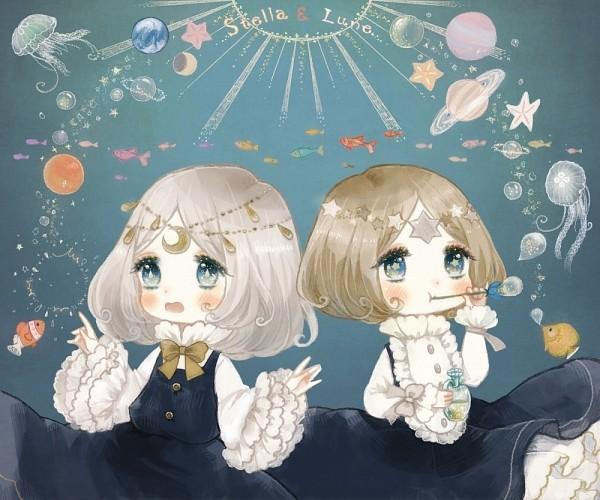 Tags: Anime, YuJuP, Jellyfish, Stella & Lune, Pixiv
