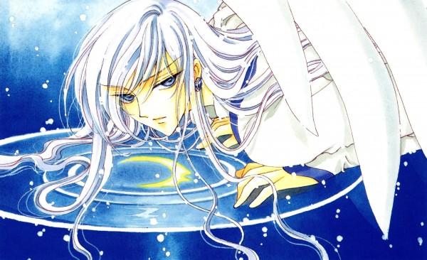 Tags: Anime, CLAMP, Cardcaptor Sakura, Cardcaptor Sakura Illustrations Collection 3, Yue (Cardcaptor Sakura), Different Reflection, Wallpaper, Official Art