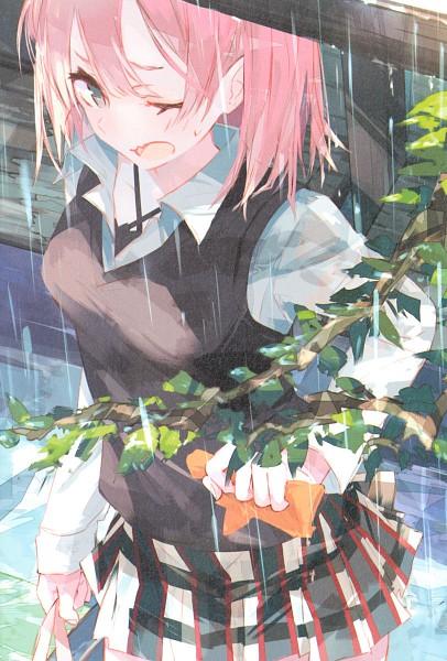 Tags: Anime, Ponkan Eight, Yahari Ore no Seishun Love Come wa Machigatteiru, Yuigahama Yui, Mobile Wallpaper, Scan, Official Art