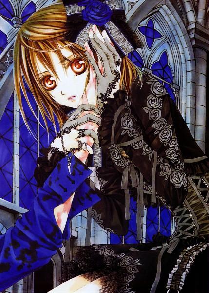 Tags: Anime, Hino Matsuri, Vampire Knight Illustrations, Vampire Knight, Yuki Cross, Stained Glass, Mobile Wallpaper, Official Art, Scan