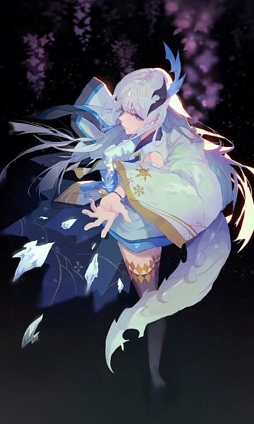 Tags: Anime, Pixiv Id 8956220, Onmyouji (NetEase), Yuki Onna (Onmyoji), Yuki Onna, Pixiv, Fanart, Mobile Wallpaper, Fanart From Pixiv