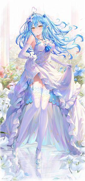 Tags: Anime, Nikkunemu, Yukihana Lamy, Lamy Ch., Hololive, Pixiv, Fanart, Fanart From Pixiv