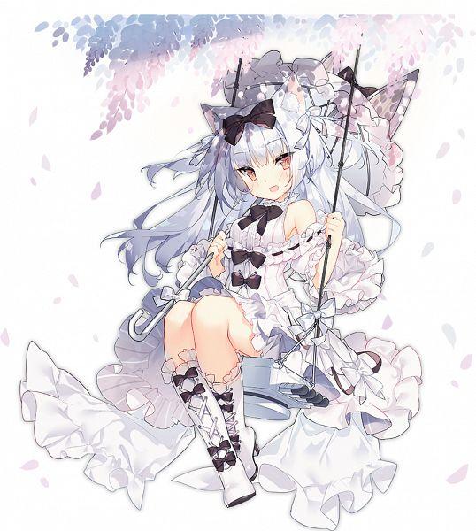 Tags: Anime, Saru Long, Yostar, Azur Lane, Yukikaze (Azur Lane), Swing, Official Art