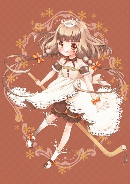 Tags: Anime, Chiririn, Yukiko-tan (Coffee), Chocolate Milk, Brown Dress, Coffee (Personification), Pixiv, Fanart From Pixiv, Fanart