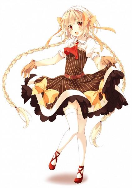Tags: Anime, Toosaka Asagi, Yukiko-tan (Coffee), Orange Ribbon, Coffee (Personification), Brown Dress, Mobile Wallpaper, Pixiv, Original