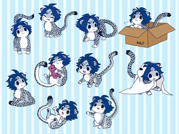 Tags: Anime, Pixiv Id 1643197, Inazuma Eleven, Inazuma Eleven GO, Yukimura Hyouga, Snow Leopard, Leopard, Fanart From Pixiv, Fanart, Pixiv, Wallpaper