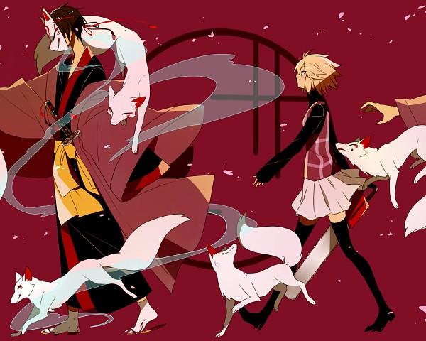 Tags: Anime, Onuko (Pixiv1861313), Yume 2kki, Yukata (Yume 2kki), Urotsuki, Chainsaw, Pixiv