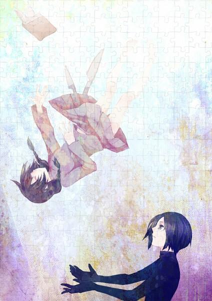 Tags: Anime, S0haturu, Yume Nikki, Sekomumasada Sensei, Madotsuki, Catching, Puzzle Piece, Pixiv, Mobile Wallpaper, Dream Diary