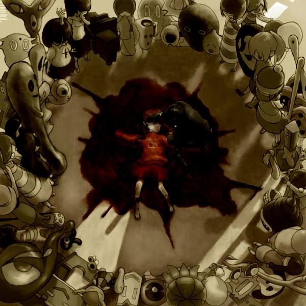 Tags: Anime, Pixiv Id 1245590, Yume Nikki, Ittan-momen, Kamakurako, Cube Guru, Monoe, Mafurako, Dave Spector, Sekomumasada Sensei, Nopperabou Witch, Madotsuki, Toriningen, Dream Diary
