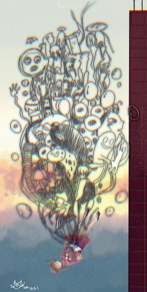 Tags: Anime, Pixiv Id 2603770, Yume Nikki, Jellyfish (Yume Nikki), Mafurako, Onsen-san, Uboa, Black Cat (Yume Nikki), Toriningen, Dave Spector, Poniko, Mars-san (Yume Nikki), Kyukyu-kun, Dream Diary
