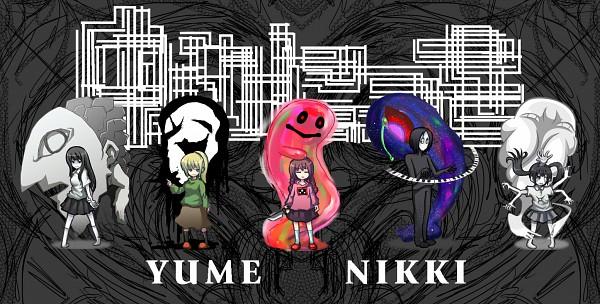 Tags: Anime, Pixiv Id 2800581, Yume Nikki, Mars-san (Yume Nikki), Poniko, Monoko, Kyukyu-kun, Monoe, Dave Spector, Sekomumasada Sensei, Madotsuki, Takofuusen, Uboa, Dream Diary