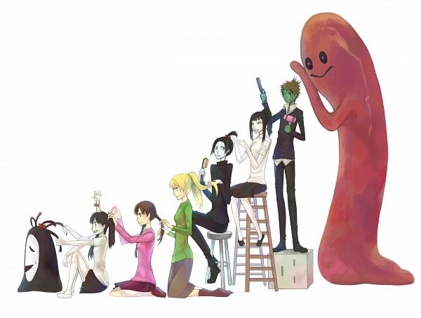 Tags: Anime, Pixiv Id 1905633, Yume Nikki, Shitaisan, Madotsuki, Uboa, Poniko, Kyukyu-kun, Monoko, Sekomumasada Sensei, Monoe, Hair Brushing, Extra Arms, Dream Diary