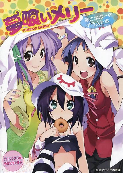 Tags: Anime, Ushiki Yoshitaka, Yumekui Merry, Kounagi Yui, Merry Nightmare, Tachibana Isana, Official Art, Mobile Wallpaper, Dream Eater Merry