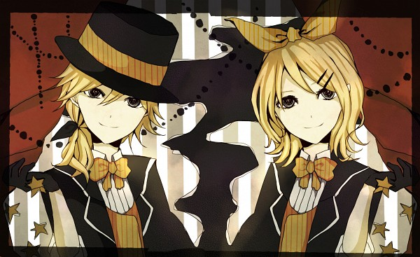 Tags: Anime, Pixiv Id 2592926, VOCALOID, Kagamine Len, Kagamine Rin, Yumekui Shirokuro Baku, Kagamine Mirrors