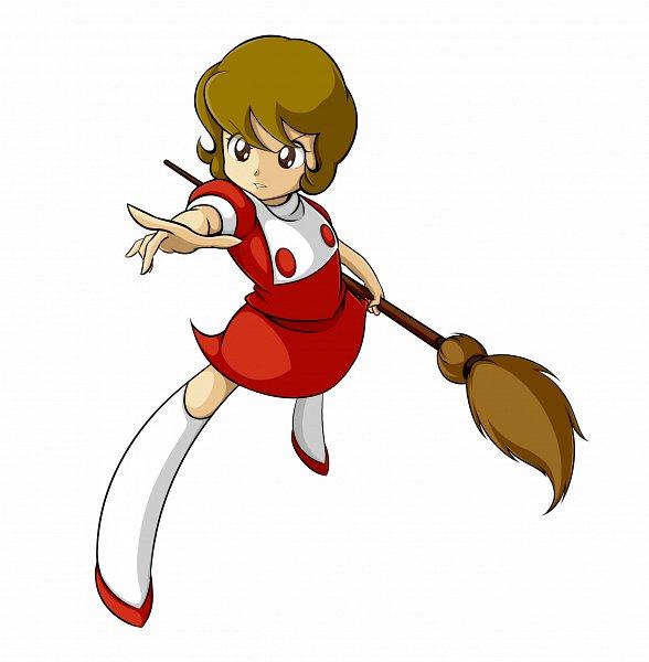 Tags: Anime, Pixiv Id 35022, Mahou Tsukai Sally, Yumeno Sally, Holding Broom, Fanart, Fanart From Pixiv, Pixiv
