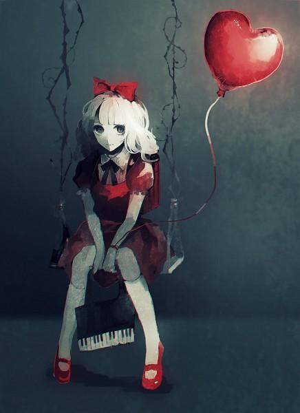 Tags: Anime, Yumeno Yume, Hot Air Balloon, Swing, Mobile Wallpaper, Pixiv, Original