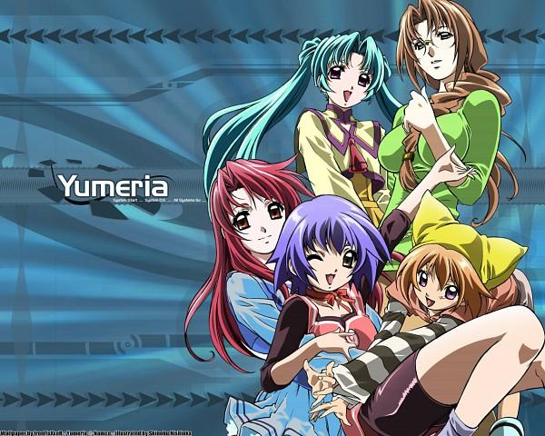 Tags: Anime, Yumeria, Mone, Senjou Nanase, Senjou Kuyou, Agatsume Mizuki, Neneko, Wallpaper