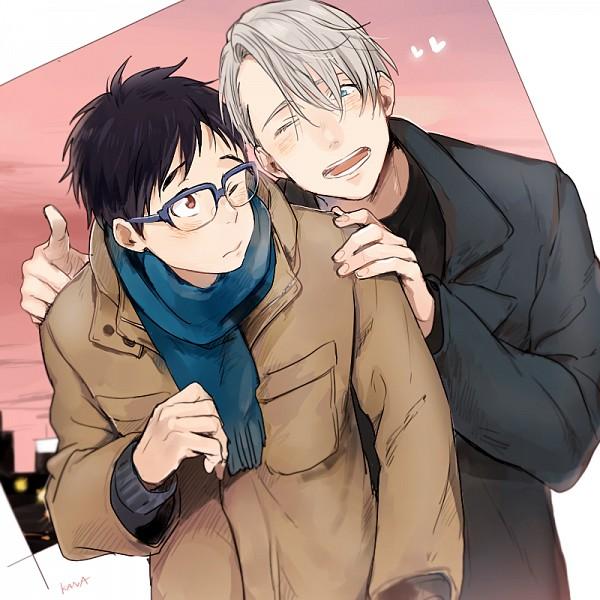 Tags: Anime, Shina-love, Yuri!!! On Ice, Katsuki Yuuri, Victor Nikiforov, Pixiv, Fanart, Fanart From Pixiv, PNG Conversion, Victuuri