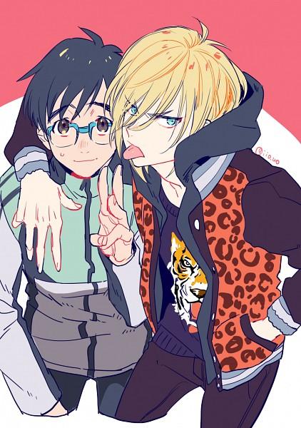 Tags: Anime, Pixiv Id 6749629, Yuri!!! On Ice, Yuri Plisetsky, Katsuki Yuuri, Mobile Wallpaper, Fanart From Pixiv, PNG Conversion, Pixiv, Fanart