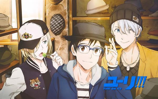 Tags: Anime, MAPPA, Yuri!!! On Ice, Yuri Plisetsky, Victor Nikiforov, Katsuki Yuuri, 1600x1000 Wallpaper, Colgante, Official Art, Wallpaper