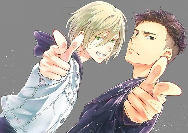 Tags: Anime, Pixiv Id 7061759, Yuri!!! On Ice, Otabek Altin, Yuri Plisetsky, Finger
