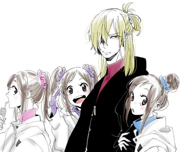 Tags: Anime, con_potata, Yuri!!! On Ice, Yuri Plisetsky, Nishigori Lutz, Nishigori Loop, Nishigori Axel, Triplets, Straw, Fanart, Twitter