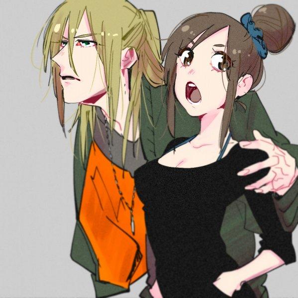 Tags: Anime, con_potata, Yuri!!! On Ice, Nishigori Axel, Yuri Plisetsky, Teenager, Twitter, Fanart