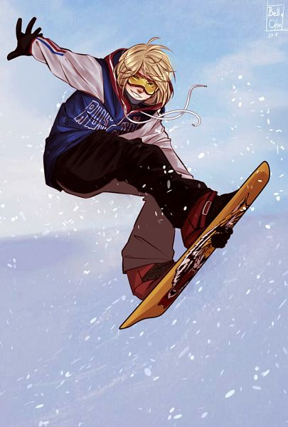 Tags: Anime, Bellchaan, Yuri!!! On Ice, Yuri Plisetsky, Skating, Skiing, deviantART
