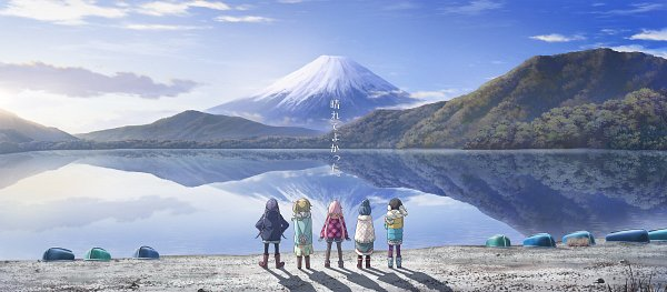 Tags: Anime, Sasaki Mutsumi (Bee Train), C-Station, Yuru Camp, Kagamihara Nadeshiko, Saitou Ena, Inuyama Aoi, Oogaki Chiaki, Shima Rin, Official Art