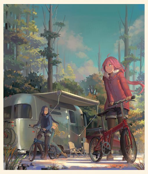 Tags: Anime, Pixiv Id 11186787, Yuru Camp, Inuyama Aoi, Oogaki Chiaki, Kagamihara Nadeshiko