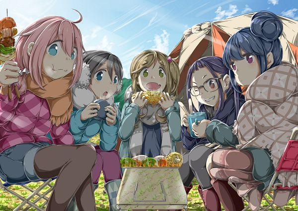 Tags: Anime, Pixiv Id 2139686, Yuru Camp, Shima Rin, Kagamihara Nadeshiko, Saitou Ena, Inuyama Aoi, Oogaki Chiaki