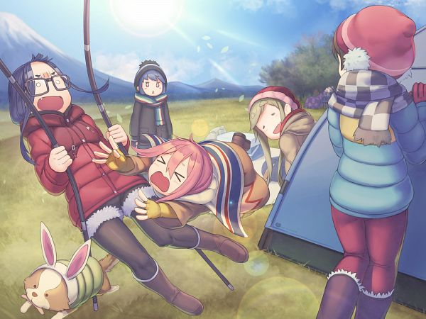 Tags: Anime, Rotix, Yuru Camp, Kagamihara Nadeshiko, Saitou Ena, Inuyama Aoi, Oogaki Chiaki, Shima Rin