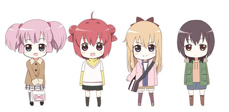 Tags: Anime, Linda B, Yuru Yuri, Yoshikawa Chinatsu, Toshinou Kyouko, Funami Yui, Akaza Akari, Fanart From Pixiv, Pixiv, Fanart