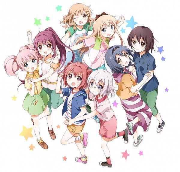 Tags: Anime, Namori, Yuru Yuri, Toshinou Kyouko, Sugiura Ayano, Akaza Akari, Ikeda Chitose, Oumuro Sakurako, Funami Yui, Yoshikawa Chinatsu, Furutani Himawari, Official Art