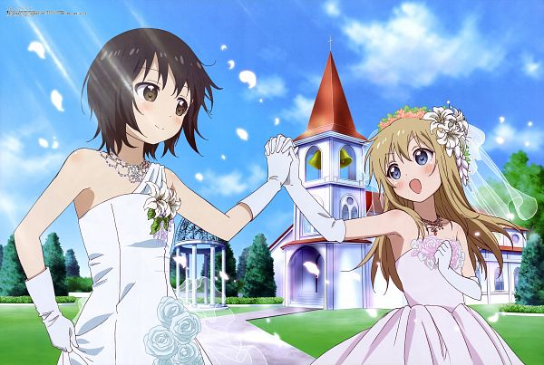 Tags: Anime, TYO Animations, Yuru Yuri, Toshinou Kyouko, Funami Yui, Scan, Official Art