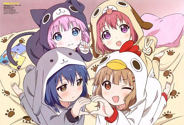 Tags: Anime, TYO Animations, Yuru Yuri, Akaza Akari, Oumuro Sakurako, Yoshikawa Chinatsu, Furutani Himawari, Official Art, Scan