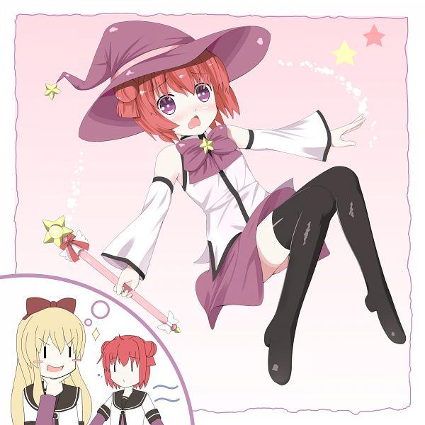Tags: Anime, Pixiv Id 440140, Yuru Yuri, Toshinou Kyouko, Akaza Akari, Mirakurun (Cosplay), PNG Conversion