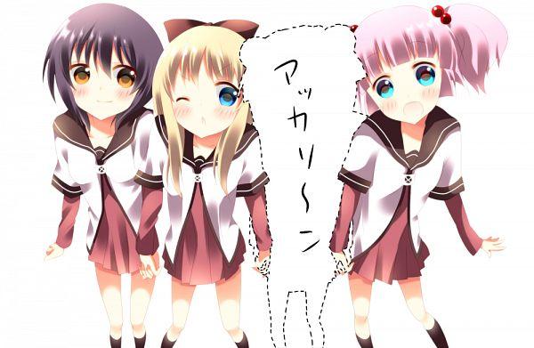Tags: Anime, Stigma1101, Yuru Yuri, Yoshikawa Chinatsu, Funami Yui, Toshinou Kyouko, Akaza Akari, PNG Conversion