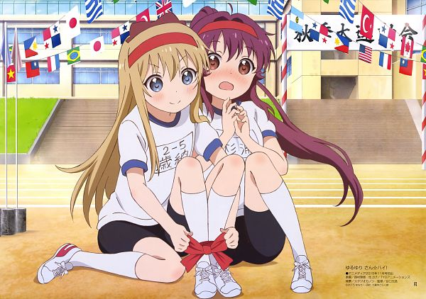 Tags: Anime, TYO Animations, Yuru Yuri, Sugiura Ayano, Toshinou Kyouko, Scan, Official Art