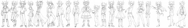 Tags: Anime, Kaede (Pixiv Id 128304), Yu-Gi-Oh! 5D's, Yu-Gi-Oh!, Yusei Fudo, Pixiv, Line Art, Fanart