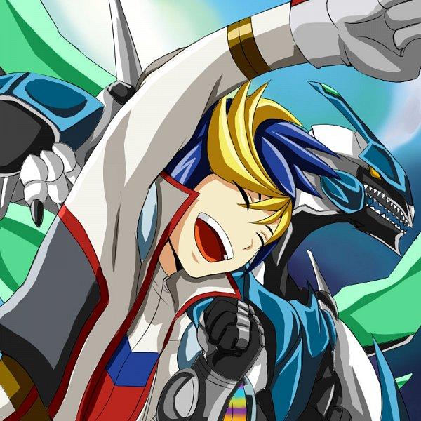 Tags: Anime, Yu-Gi-Oh! ARC-V, Yuugo (Yu-Gi-Oh! ARC-V), Clear Wing Synchro Dragon, Fanart, Fanart From Pixiv, Pixiv