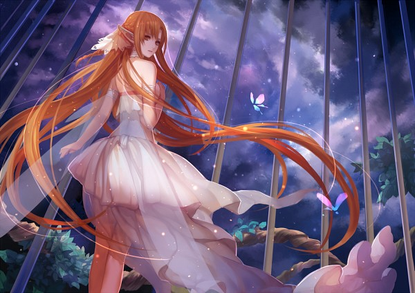 Tags: Anime, Asukaziye, Sword Art Online, Yuuki Asuna, Transparent Wings, Pixiv, Fanart From Pixiv, Fanart