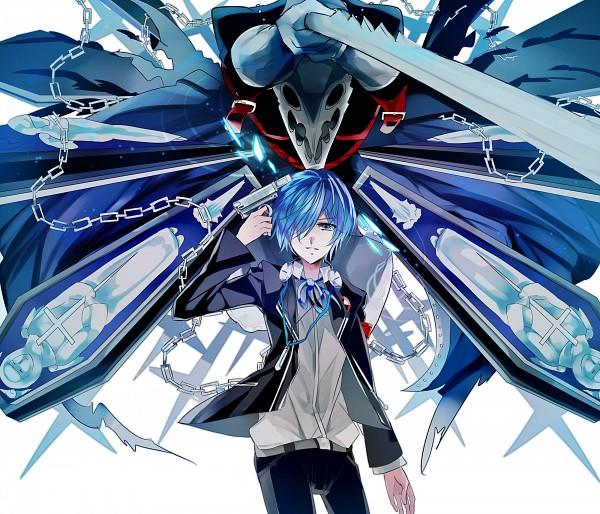 Tags: Anime, Asrhion, Shin Megami Tensei: PERSONA 3, Thanatos (PERSONA), Yuuki Makoto (PERSONA 3), Coffin, Pixiv