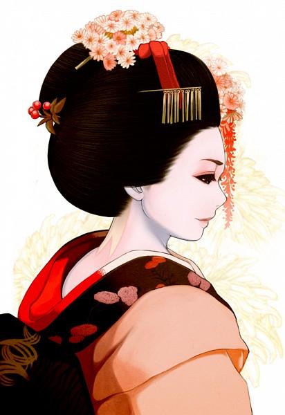 Tags: Anime, Yuuki Rika, Geisha, Mobile Wallpaper