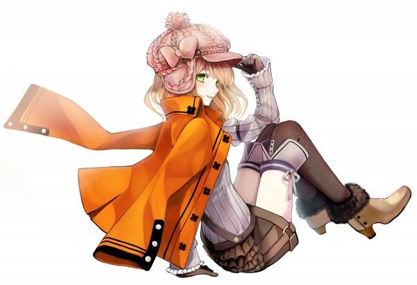 Tags: Anime, Yuuki Rika, Layered Clothes, Slender, Detailed, Orange Jacket, Pixiv, Original