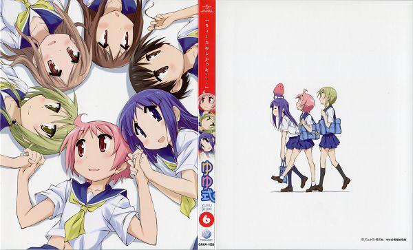 Tags: Anime, Kinema Citrus, Yuyushiki, Hasegawa Fumi, Aikawa Chiho, Nonohara Yuzuko, Ichii Yui, Okano Kei, Hinata Yukari, Official Art, Scan, DVD (Source), Wallpaper