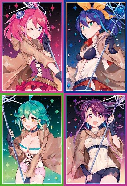 Tags: Anime, Yu-Gi-Oh!, Yu-Gi-Oh! ARC-V, Aussa the Earth Charmer, Serena (Yu-Gi-Oh! ARC-V), Eria the Water Charmer, Kurosaki Ruri, Wynn the Wind Charmer, Hiiragi Yuzu, Hiita the Fire Charmer, Rin (Yu-Gi-Oh! ARC-V), Sorcerer, Heroine