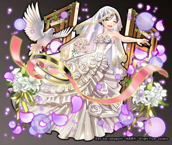 Tags: Anime, Yamaguchi Kae, Wright Flyer Studios, Shoumetsu Toshi, Yuzuki (Shoumetsu Toshi), PNG Conversion, Official Art
