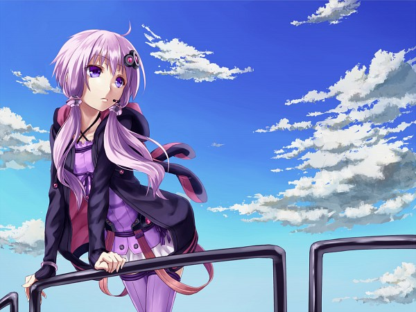 Tags: Anime, 1011003 (Artist), Voiceroid, VOCALOID, Yuzuki Yukari, Purple Legwear, Pixiv, Fanart